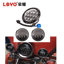 "best quality 4.5"" 4.5 inch fog light 7"" led motorcycle 7 inch headlights for harley"