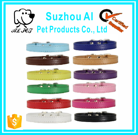Soft Touch Leather Dog Collar and Leash