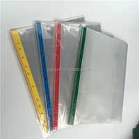 Yiwu factory direct selling 11 hole good quality screen protector sheet 4 color pp waterproof sheet protector