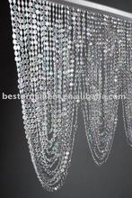 "35"" Crystal Beaded Swag Valance Curtain filled with 66 garlands"