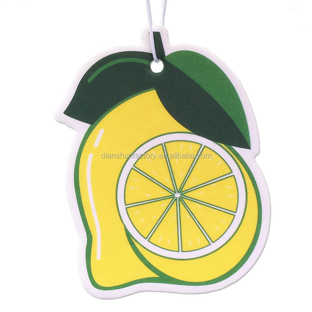 Hanging Paper Auto Perfume Lasting Fragrance Lemon Scent Car Air Freshener