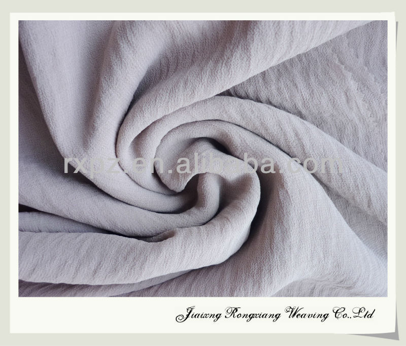 Shaoxing ITY chiffon in washing effect keqiao chiffon fabric textile