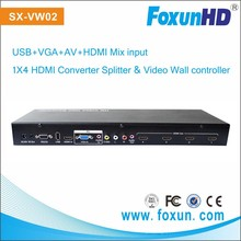 Support VGA USB AV input 4x4 HDMI video wall controller good quality 1080p full HD high definition 4x4 video wall controller