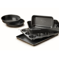 Nonstick 6-Piece Bakeware Set, Carbon Steel Cake Bread Mold Chocolate.