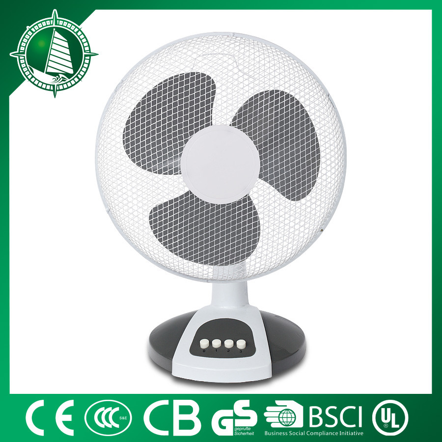 Rechargeable AC/DC battery operated led table fan with 4-speed
