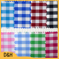 Plaid pattern yarn dyed fabric combed cotton fabric for T-shirt, shirts, bedding products
