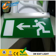 high quality emergency exit sign light with LED EXIT emergency light A 3.6V600mAH rechargeable NI-CD battery