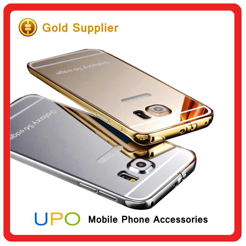 [UPO] Luxury Aluminum Ultra-thin Mirror Metal Case for iPhone 6, Metal Bumper Case For Samsung Galaxy S6 Edge