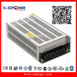 YGY single output ac dc mw led power supply 250w for led display