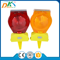 PC LED Solar Powered Traffic Barricade Warning signal light,construction,traffic light manufacturer