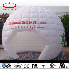 18feet diameter advertising inflatable white color dome tent / igloo with logo printing