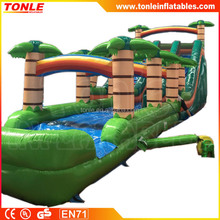 Tropical palm tree inflatable water slide/ waterslide/ wet dry slide for party