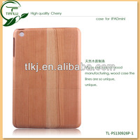 Cherry wood mobile phone cover for ipad mini,2014 Newest Fashion Great High Quality Mobile Phone Case For Ipad Mini