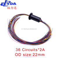 36 Circuits*2A electric slip rings made in China