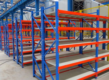 New warehouse storage system 4 shelves heavy metal palet rack