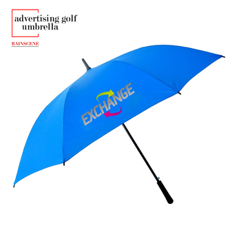 G27-09 advertising golf umbrella with customized logo printing