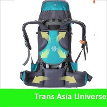 Hot Sale 75L big capacity outdoor waterproof nylon backpack with rain cover