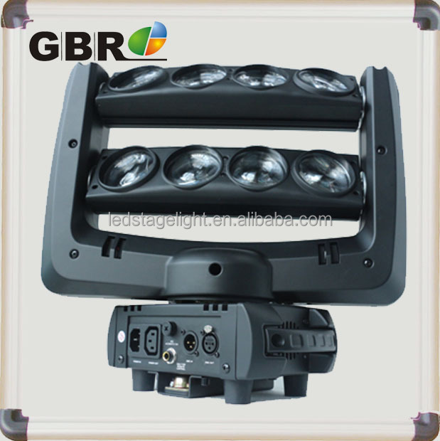 night club and DJ lighting latest popular equipment 8 eyes crazy led moving head spider light