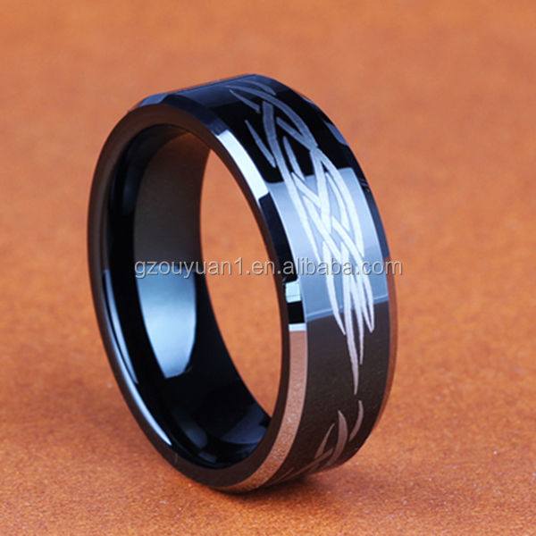 Guangdong China Hardware Jewelry Men Blank Tungsten Carbide Engagement Blue Ring
