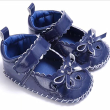cute baby pre-walker leather solid infant shoes