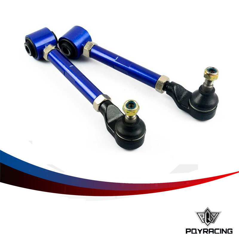 PQY RACING- Blue Rear cambe kit For 98- 02 Honda Accord Rear Adjustable Camber Arms Kit PQY9812