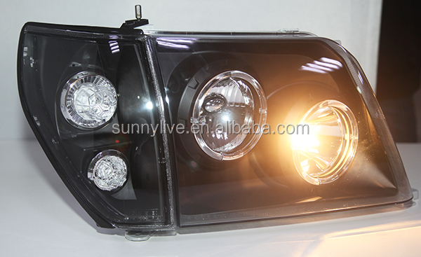 For TOYOTA Prado 3400 FJ90 LC90 Head Lamp Angel Eyes 98 to 03 Black Type