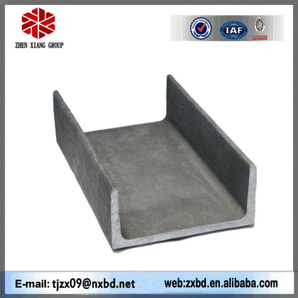 Q235/SS400 steel channel sizes, u channel steel