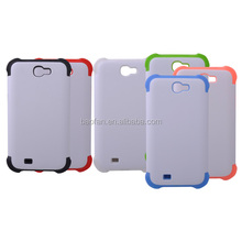 dual protective silicone phone case for samsung Note2