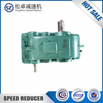 Speed reducer for pulley gearbox driven by belt
