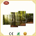 beautiful handmade natural scenery 4 panels art canvas painting