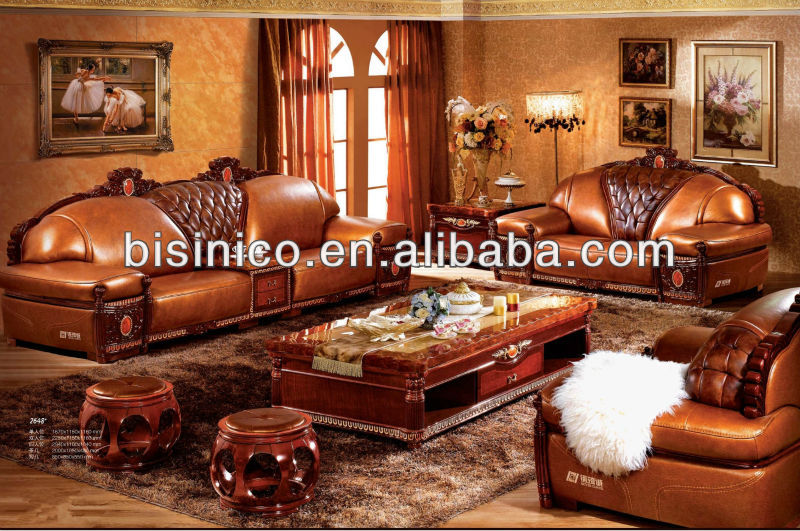 Contemporary Thai Asian Living Room Genuine Laether Furniture,Luxury Sofa Set,Noble Indonesia Living Room Furniture