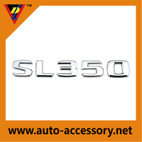 3 years warranty chrome SL350 numbers and letters car emblem for sale