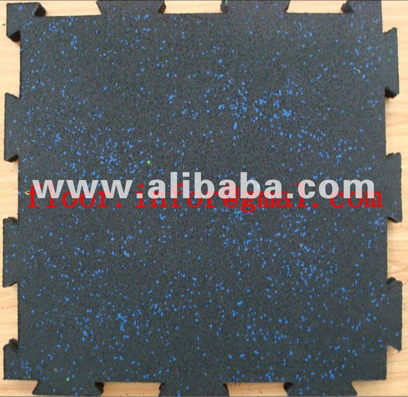 interlocking rubber mat with EPDM dots