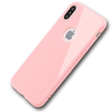 ultra thin candy color glossy tpu cellphone case for iphone x,for iphone x silicone case