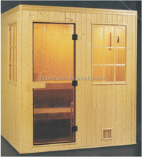 Wholesale price Finland spruce dry sauna/wet steam/shower room