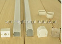 1 Meter Flat Aluminum Profile Kit for 8MM or 10MM or 12mm Flexible LED strip