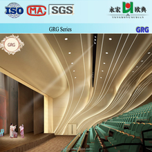 High quality& Fashion waterproof Glassfiber Reinforeced casting Gypsum/Plaster(GRG) cornice designs