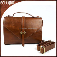 Hot selling ladies shouder vintage leather cheap messenger bags for women