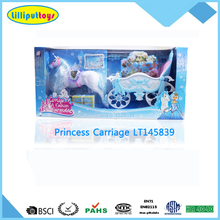 Royal Beauty Princess horse carriage with Make up set & Carry case for girls