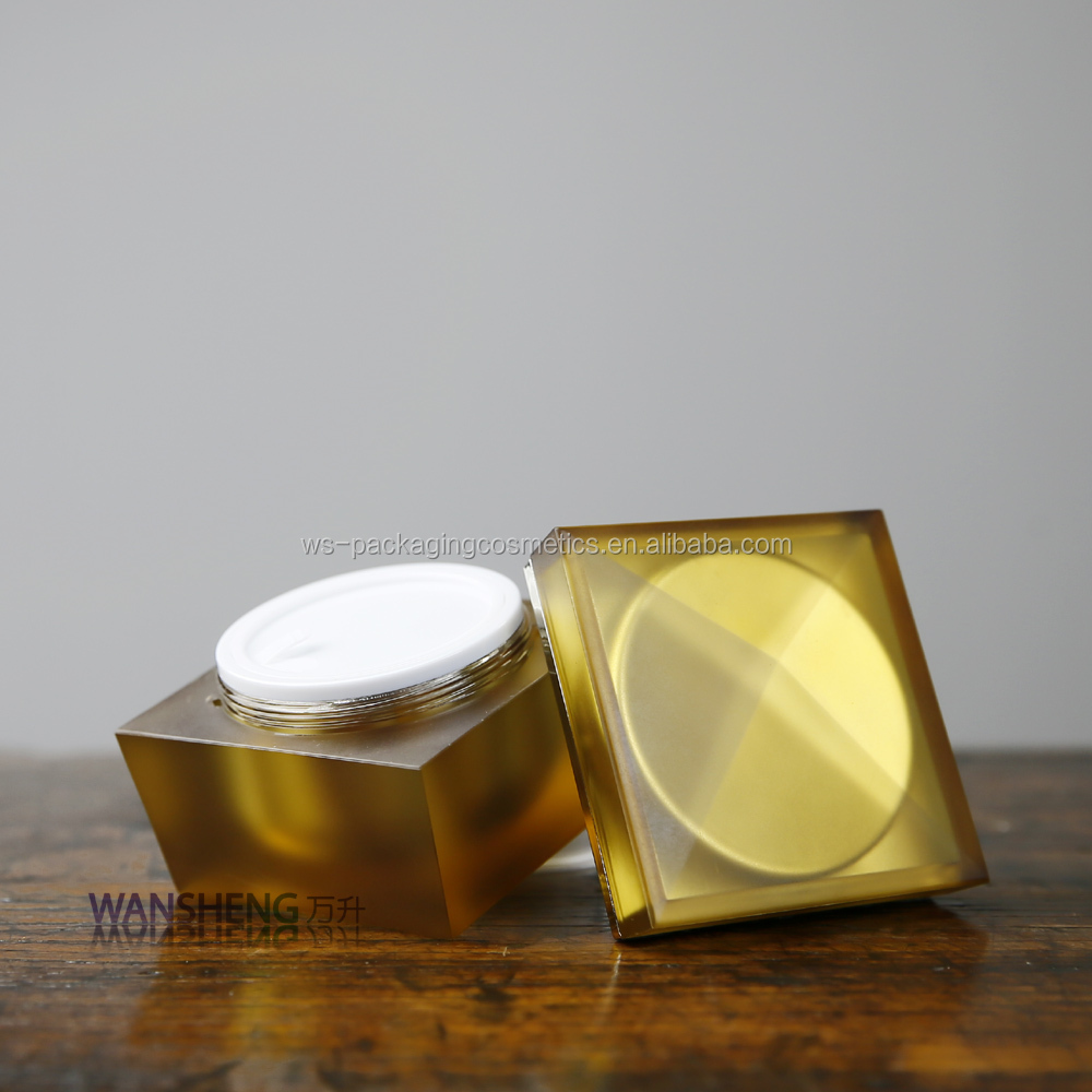 Cosmetic Square Containers 100G Luxury Acrylic Jar