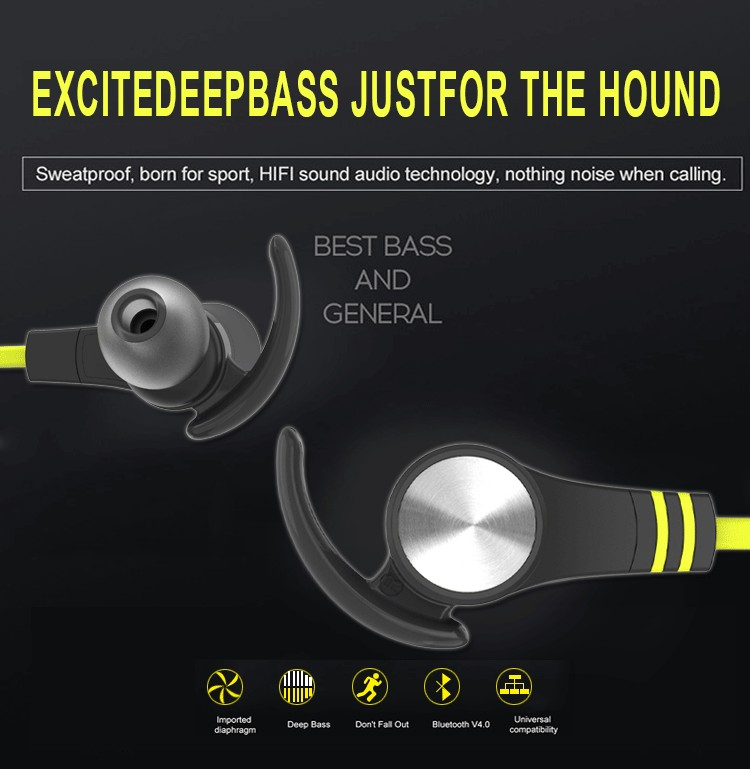 bluetooth headphones wireless V4.1 sport stereo magnetic earbuds
