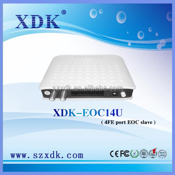 500Mbps 4 100M full-duplex Ethernet Interface Ethernet over Coaxial Slave Indoor EoC Slave Modem