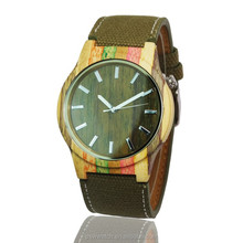 2017 Natural Wholesale colorful Wood Watch Wrist Wood Watch for Men and women