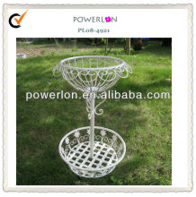 Round outdoor flower shelf