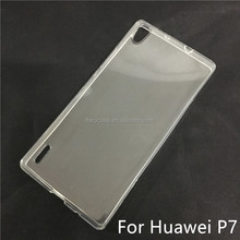 Soft TPU Silicon Transparent Clear case for Huawei P7