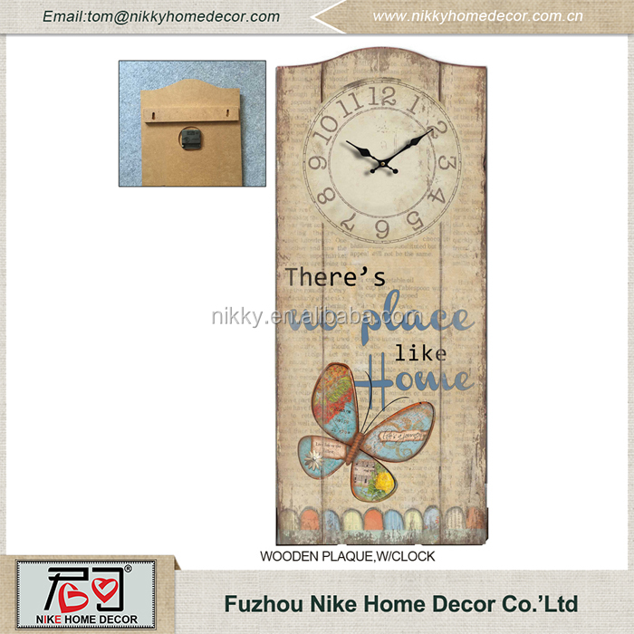 Good quality new design wooden kitchen wall clock