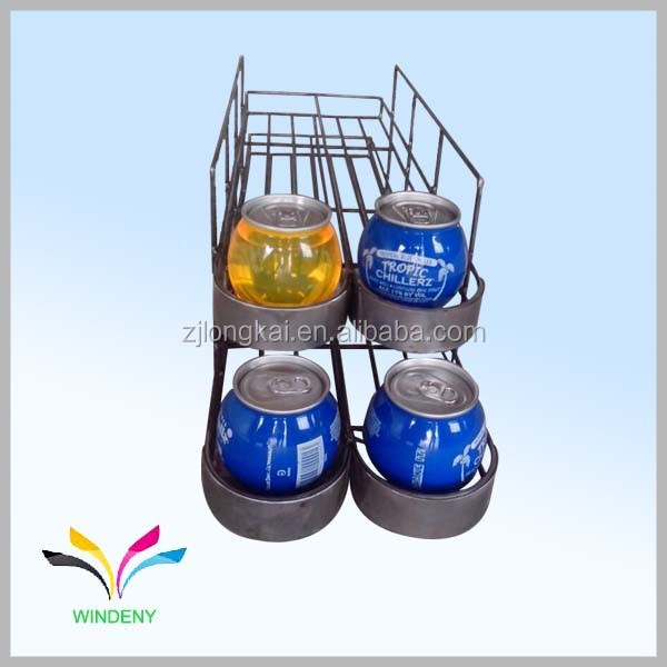 OEM design counter metal wire soft drink beverage display rack