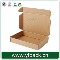 Corrugated Plain Carton Foldable Box For Apparel, Clothing Box Packaging
