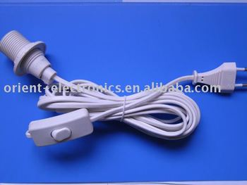 Germany Type Salt Lamp Holder Power Cord/303 Switch/e14 Lamp Holder - Buy Lamp Holder With 304 ...