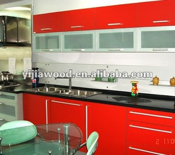 Red High Gloss Doors For Frosted Glass Kitchen Cabinet Doors Buy